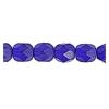 Fire Polished 6mm Transparent Cobalt Blue Matt